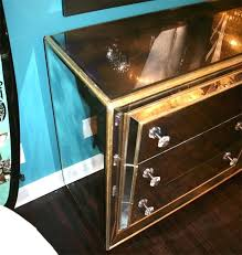 smoked mirrored furniture. Wood And Mirrored Dresser Custom Smoked With Gold Leaf Trim Wooden Mirror . Furniture