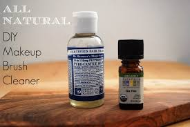 a great diy natural makeup brush cleaner recipe info on how to clean your brushes at home with dr bronners soap and tea tree oil to keep them in great