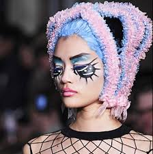 eight of the craziest hair and makeup looks from london fashion week popsugar beauty uk