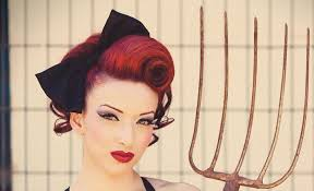 Pin up girl hairstyle