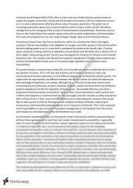explain how corporate social responsibility and legal regulations  corporate social responsibility essay