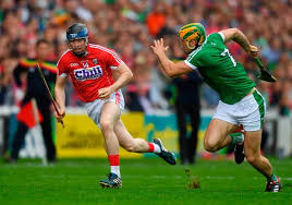 2 june 2018 conor lehane of cork in action against dan morrissey of limerick during