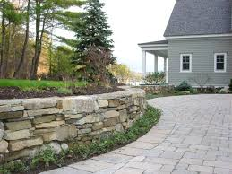 dry laid stone retaining wall retaining and landscape wall belknap landscape co inc