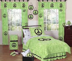 lime groovy peace sign tie dye children
