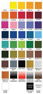 Plutonium Color Chart 2015 Spray Paint Colors Purple