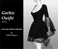 Outfit Creator With Your Own Clothes Gothic Outfit Vol 01 Lolita Collection