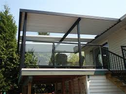 combination solid clear patio cover using clear glass panels