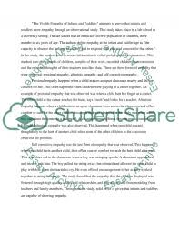 the visible empathy of infants and toddlers essay the visible empathy of infants and toddlers essay example