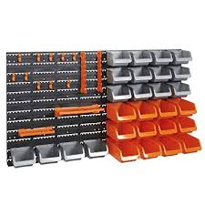 Pegboard storage bins Tool Storage Vonhaus 44 Piece Wall Mounted Pegboard Hook Storage Bins And Panel Set Diy Garage Amazoncom Vonhaus 44 Piece Wall Mounted Pegboard Hook Storage Bins And Panel