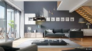 ... Living room, Slate Gray Walls Modern Living Rooms With Cool Clean Lines  Best Grey Living ...