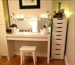 diy makeup vanity table. Simple DIY Makeup Vanity Table With Glass Top And Wooden Base Painted White Color Plus Rectangle Mirror Lighting Border Ideas Diy B