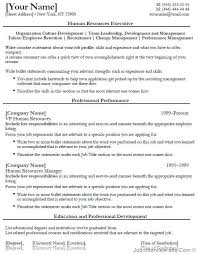 Human Resources Resume Entry Level Template Entry Level Recruiter