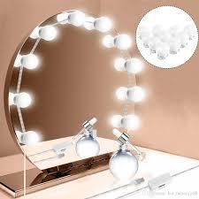 hollywood style led vanity mirror lights kit 10w makeup led vanity light bulb kit dimmable led light bulb for dressing table led vanity mirror lights led