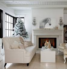 Bedroom : Cute White Interior Decoration Living Room Equipped With A White  Sofa And Cushions Then Added A White Table And Then Fireplace And A Wall Of  ...