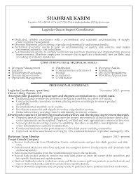 Logistic Coordinator Cv Resume Cv Cover Letter