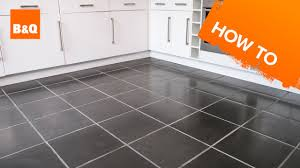 B And Q Kitchen Floor Tiles How To Tile A Floor Part 1 Preparation Youtube