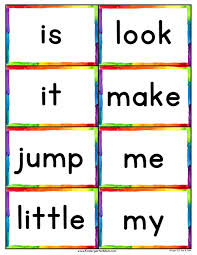 Dolch 220 Sight Word List Flash Cards