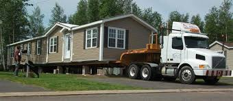 modular home on truck