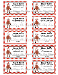 printable red sock monkey diaper raffle tickets bee busy designs