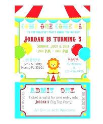Free Circus Birthday Invitations Printables Circus Theme Invitation