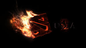 download wallpaper 1920x1080 dota 2 art logo fire full hd 1080p