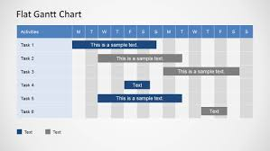 Simple Monthly Gantt Chart Template Simple Gantt Chart Powerpoint Template