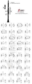 Free Printable Clarinet Fingering Chart Homeschool Giveaways