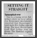 typographical error