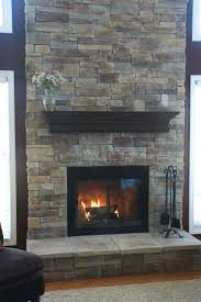 stacked stone fireplace installation mantels surround ideas
