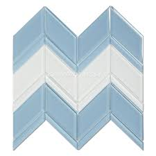 century mosaic crystal glass blends chevron mosaic tile