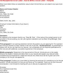 Gallery Of Veterinary Assistant Receptionist Cover Letter