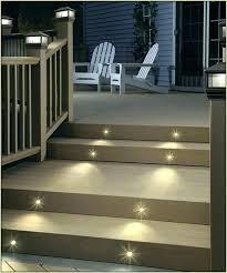 deck stair lighting ideas. Solar Step Lights Powered Light Deck . Stair Lighting Ideas I