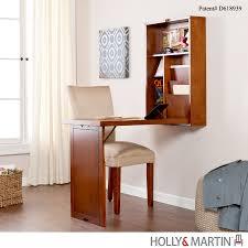 holly martin leo fold out convertible desk walnut