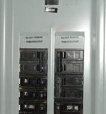 distribution board breaker arrangement