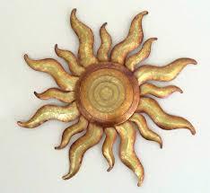 sun wall art outdoor sun wall decor unique golden sun celestial wall art metal gold sunburst