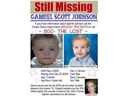 HELP BRING HOME young Gabriel Johnson 08/09 by The Missing and Exploited    News