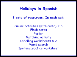 spanish teaching resources holidays travel and tourism tes holidays in spanish worksheets games activities and flash cards audio bundle