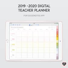 New 2019 2020 Digital Teacher Planner Sweet Paper Trail