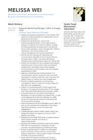 Marketing Resume Examples Impressive Regional Marketing Manager Resume samples VisualCV resume samples