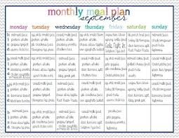 family meals month monthly diet meal plan 14 day clean eating meal plan for the whole