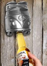 vw wall mounted bottle opener silver