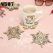 Decorative Cup And Saucer Holders 100 Patterns Carved Wooden Snowflake Coaster Holder Coffee Tea 41