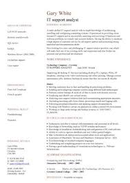 It Support Analyst Cv Sample Show Your Key Strengths And Explain