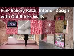 Pink Bakery Retail Interior Design Ideas With Old Bricks Walls