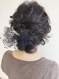 新郎新婦の母は着物でも崩した感じのヘアセットが今時です 総社市