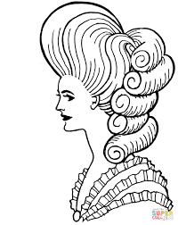 Pompadour Hairstyle Coloring Page Free Printable Coloring Pages