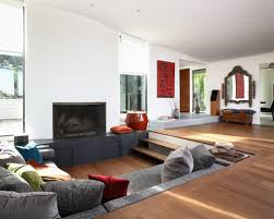 Living Room Cozy Modern With Fireplace Eiforces