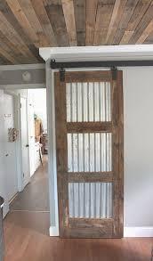 barn door design plans. Sheet Metal And Pallet Wood Turned Into A #DIY Barn #door Door Design Plans L