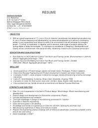 Ideas Collection Cad Designer Resume Simple Cad Manager Sample