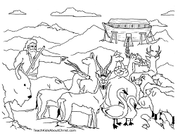 Noah Ark Coloring Pages Printable Coloring